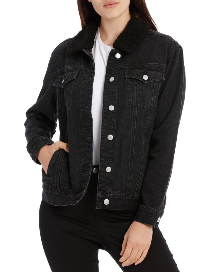 Sherpa Collar Denim Jacket image 1