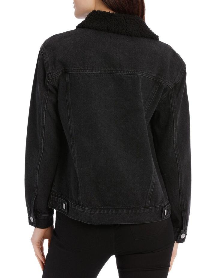 Sherpa Collar Denim Jacket image 3