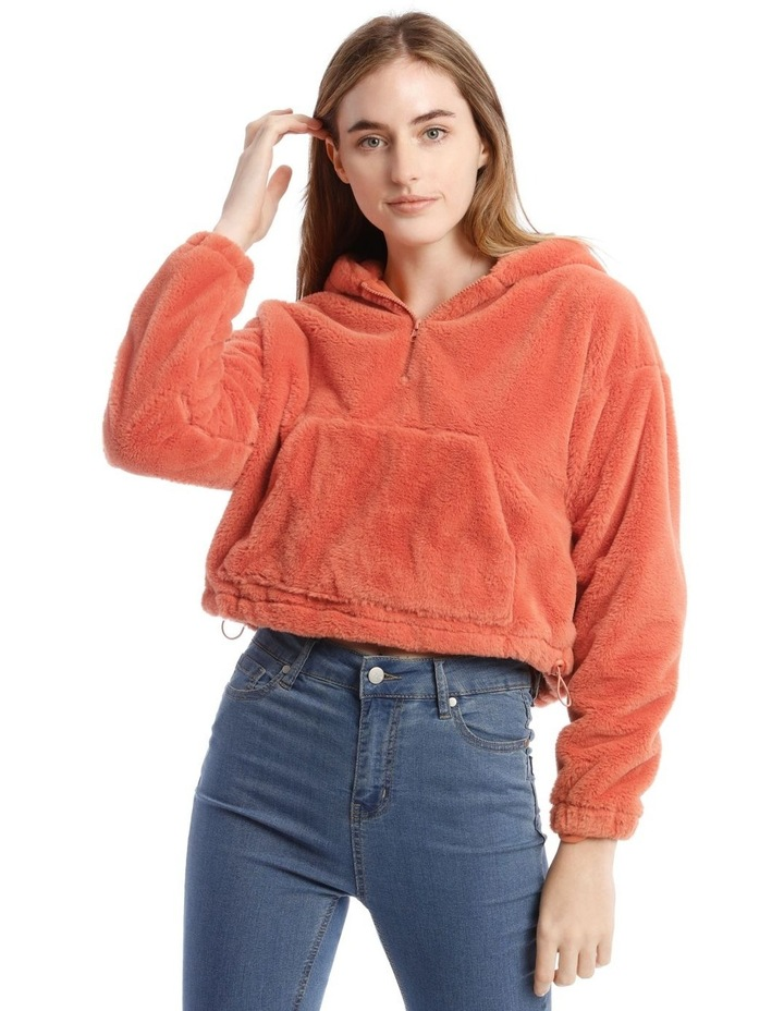 Peachy Faux Fur Pull Over image 1