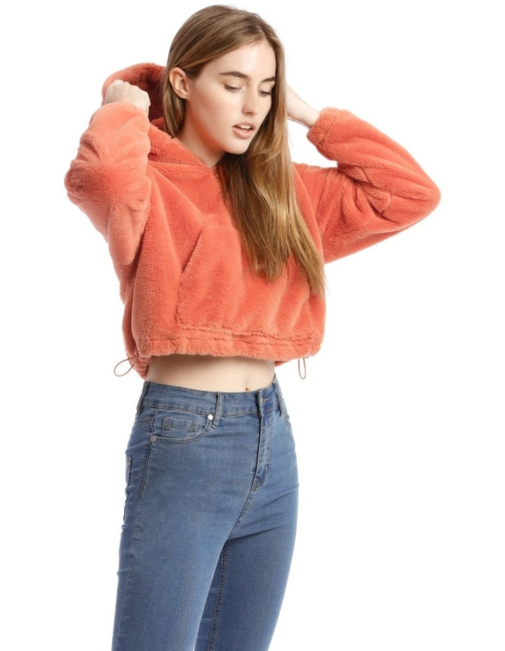 Peachy Faux Fur Pull Over image 2