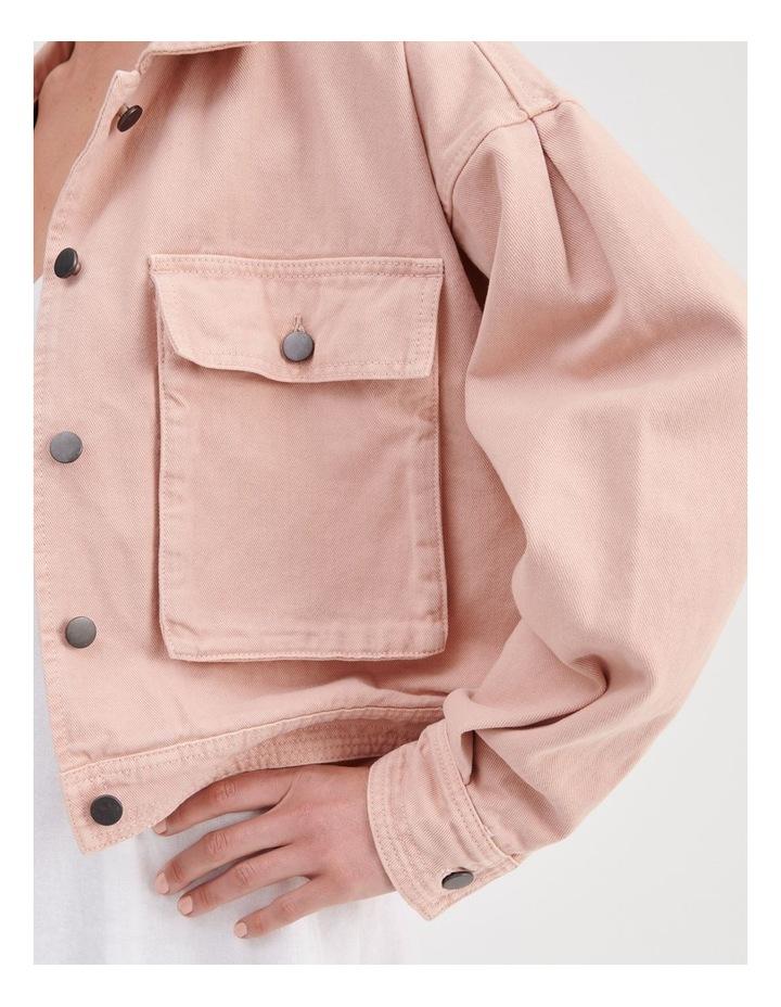 Shoulder Detail Boxy Denim Jacket image 5