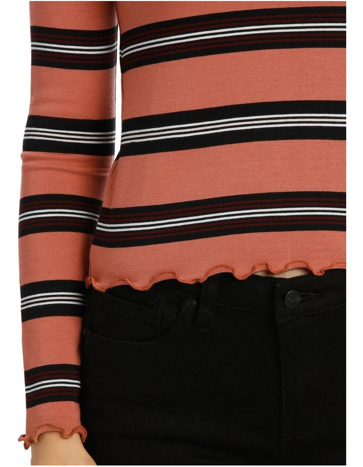 Retro Stripe Long Sleeve Top Mscw18206 image 4