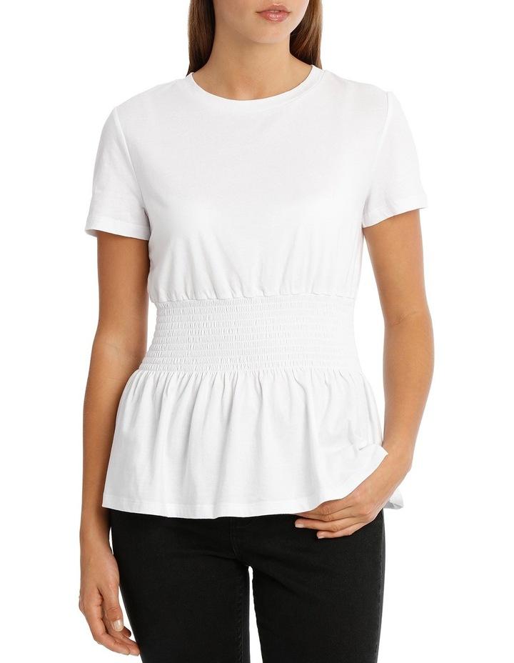 Shirred Waist Tshirt MSCW18228 image 1