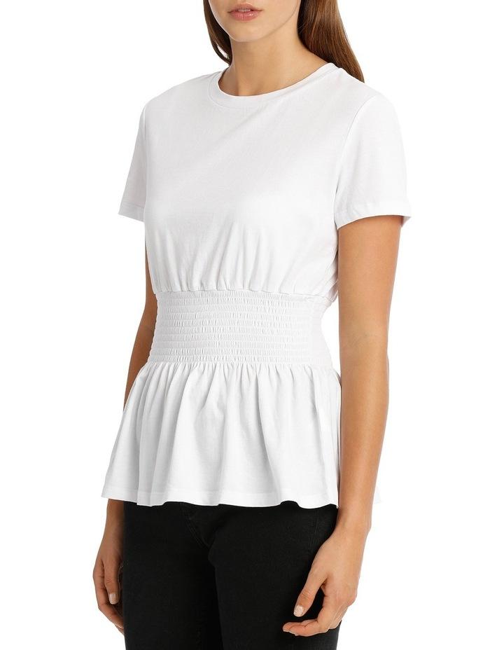 Shirred Waist Tshirt MSCW18228 image 2