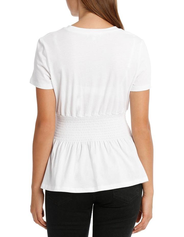 Shirred Waist Tshirt MSCW18228 image 3