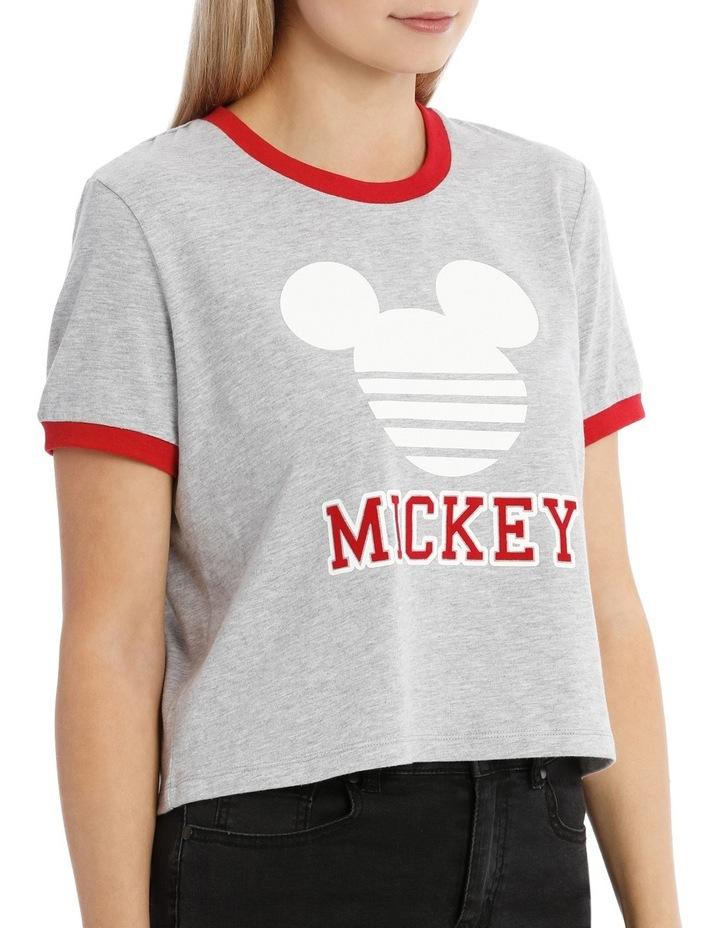 Mickey Logo Ringer Tee image 2