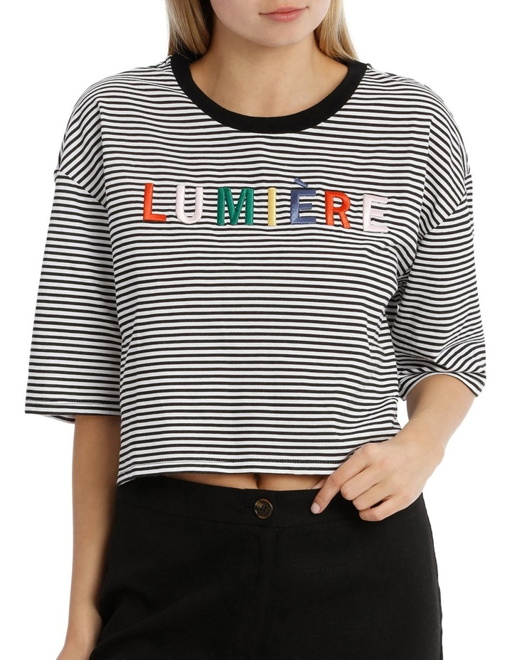 Graphic Ringer Boxy Tee - Lumiere image 1