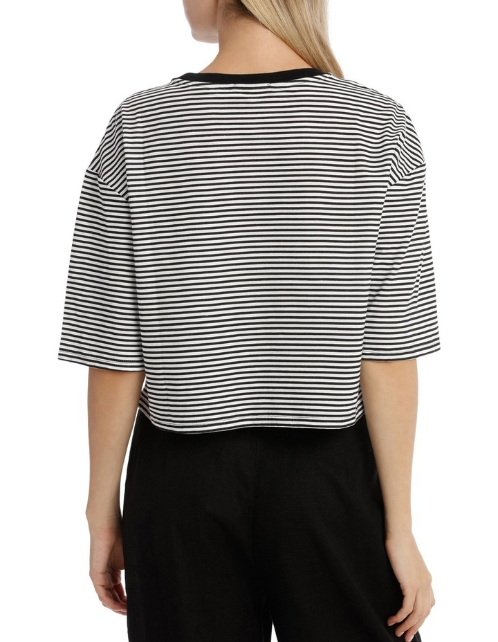 Graphic Ringer Boxy Tee - Lumiere image 3