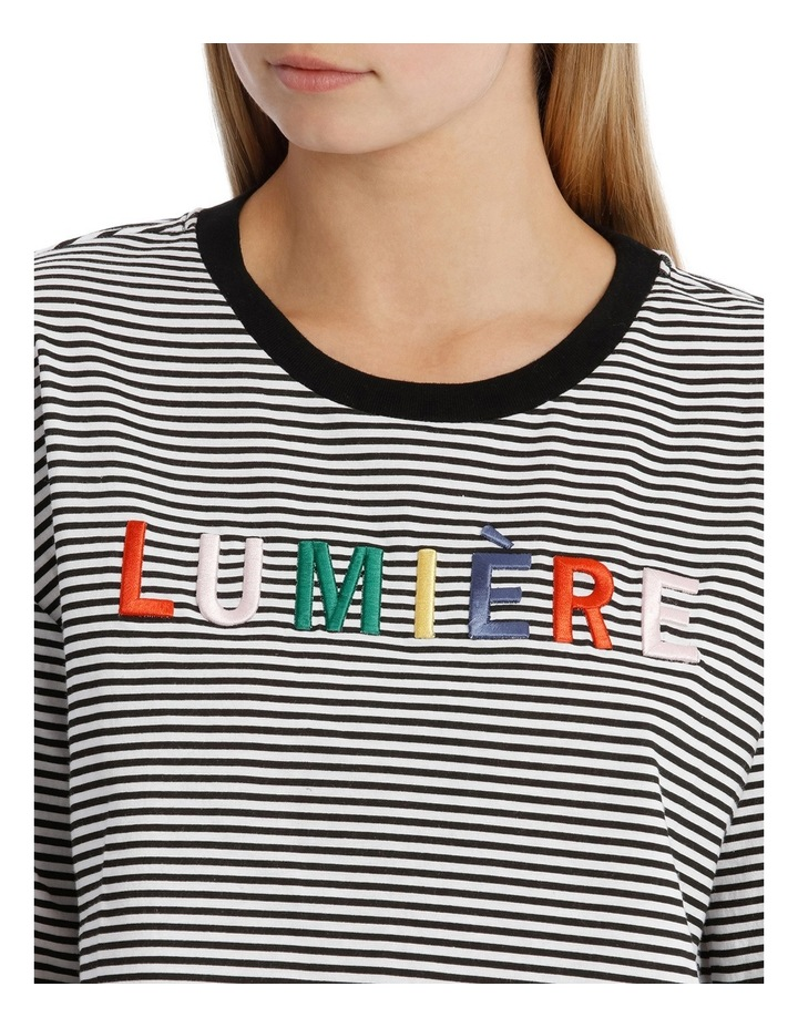 Graphic Ringer Boxy Tee - Lumiere image 4