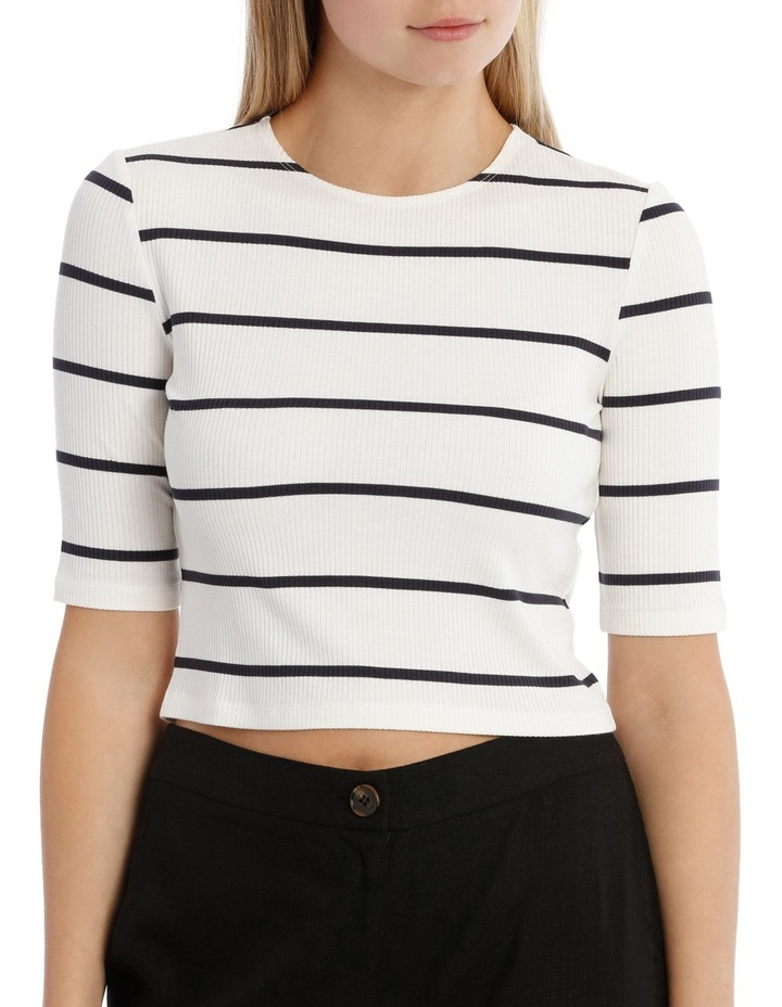 Fashion Stripe 3/4 Sleeve Top image 1