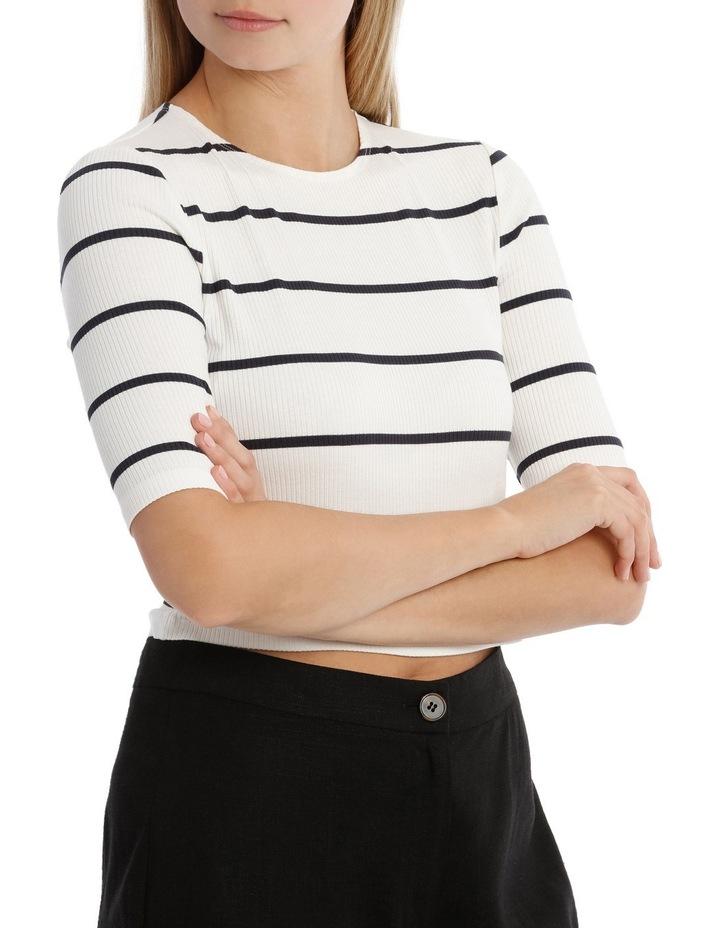 Fashion Stripe 3/4 Sleeve Top image 2