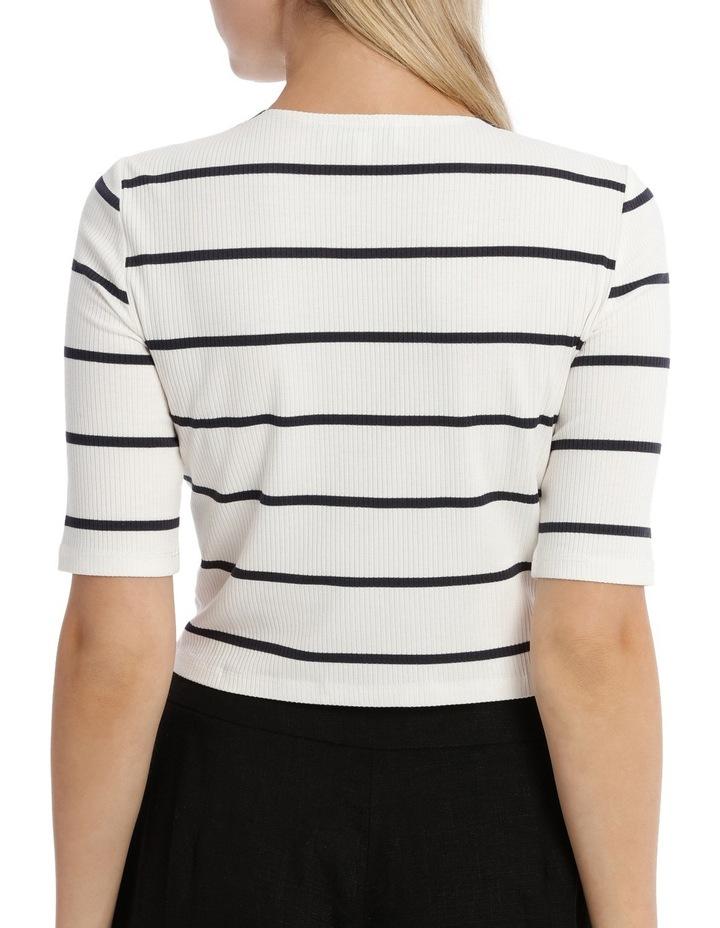 Fashion Stripe 3/4 Sleeve Top image 3