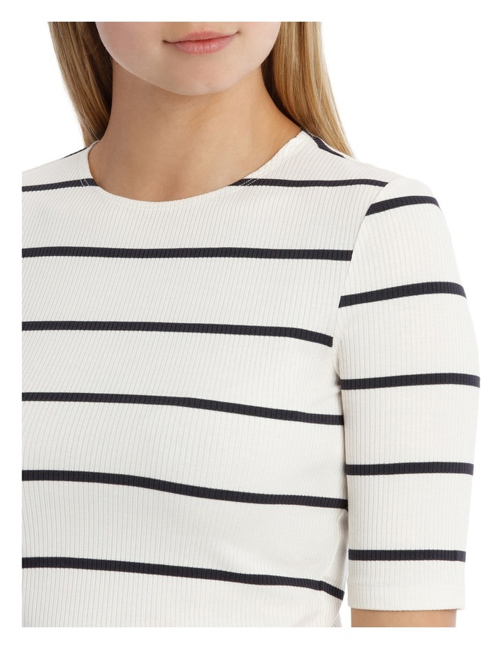 Fashion Stripe 3/4 Sleeve Top image 4