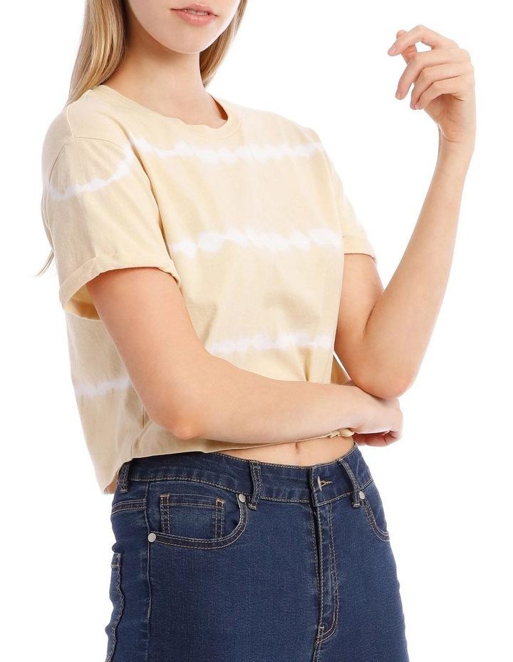 Line Tie Dye Chopped T-Shirt image 4