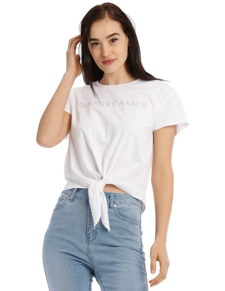 Daydreamer Tie Front Tee image 1