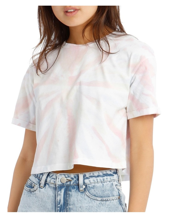 Shell Tie Dye Cropped Tee image 4