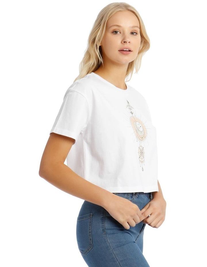 Cropped Roll Cuff Tee image 2