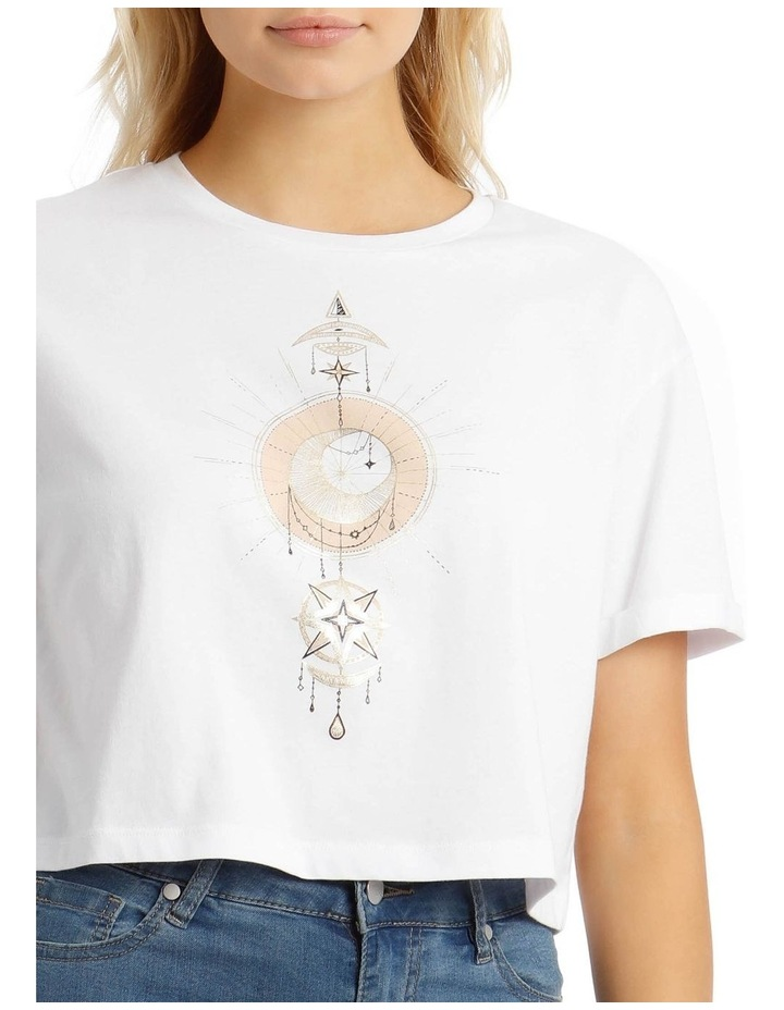Cropped Roll Cuff Tee image 4