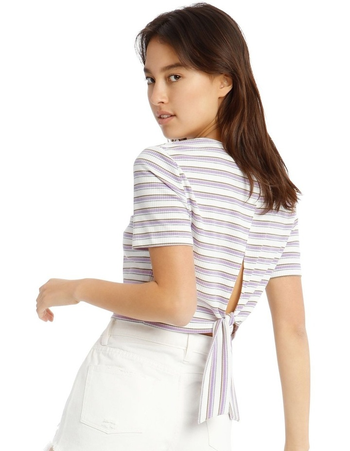 Ribbed Tie Back Tee image 1
