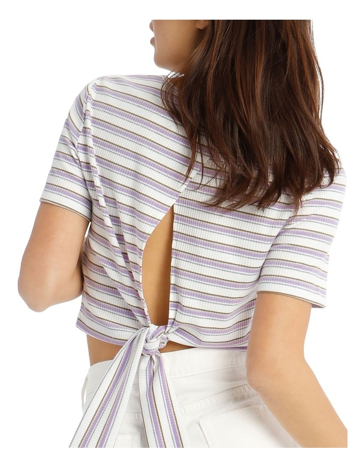 Ribbed Tie Back Tee image 4