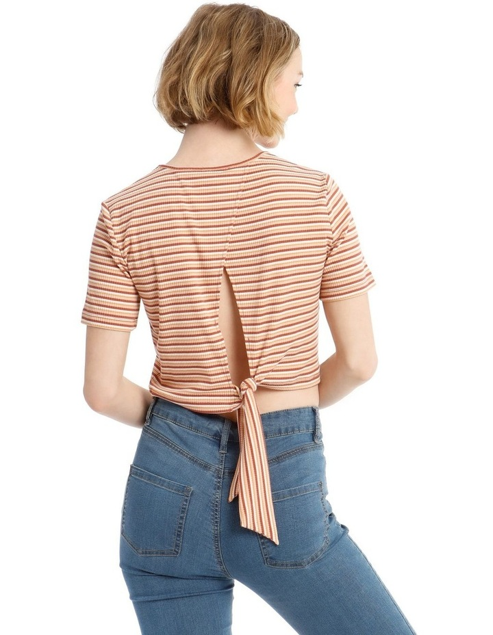 Ribbed Tie Back Tee image 3