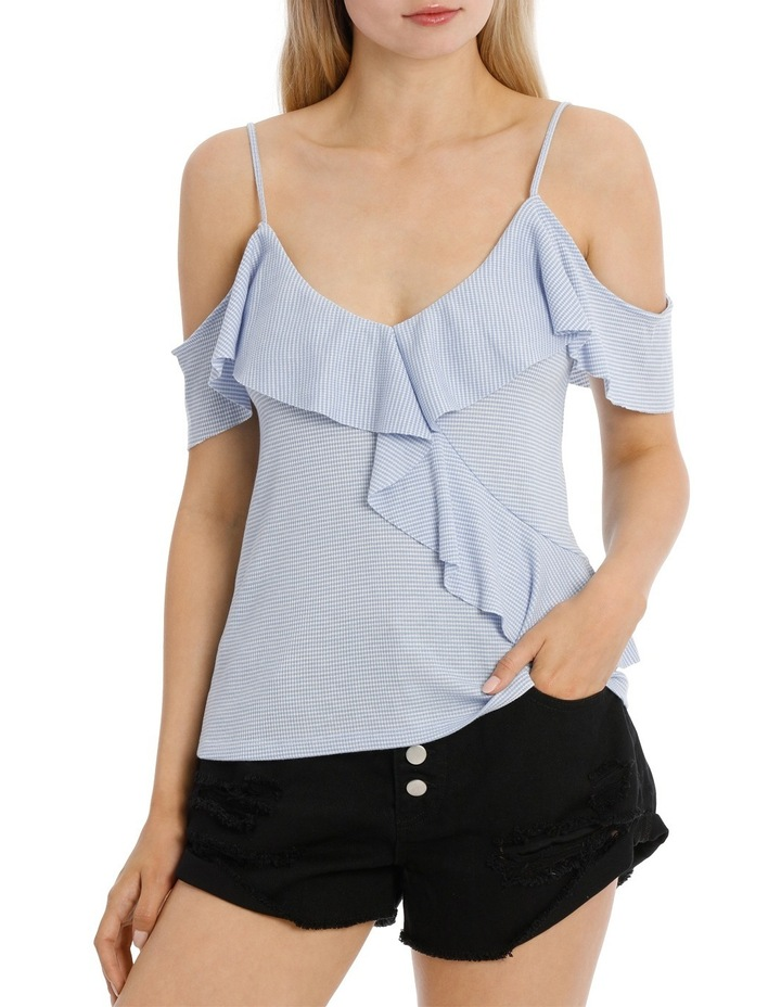 Ruffle Off Shoulder Cut and Sew Top image 1