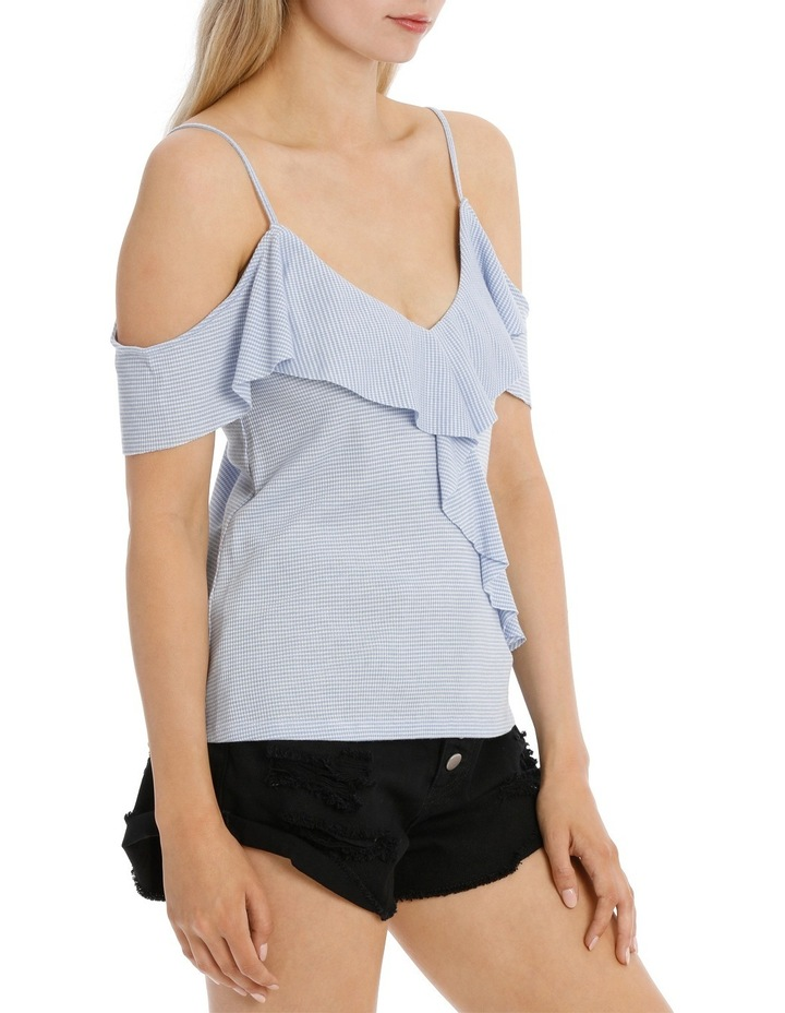 Ruffle Off Shoulder Cut and Sew Top image 2
