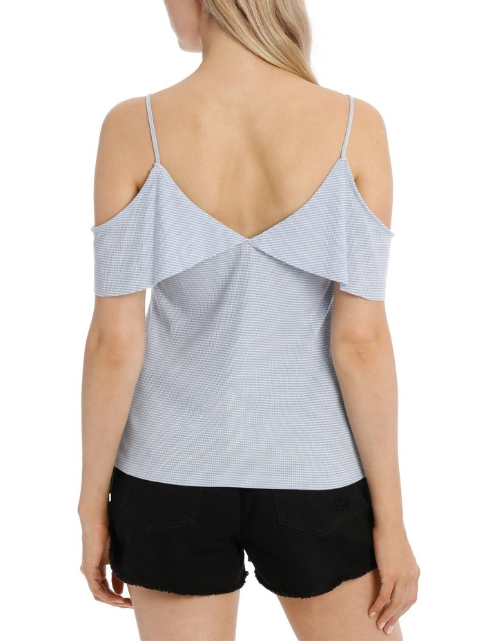 Ruffle Off Shoulder Cut and Sew Top image 3