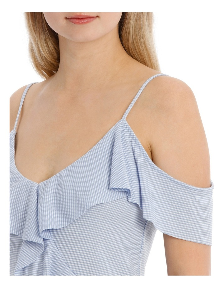 Ruffle Off Shoulder Cut and Sew Top image 4