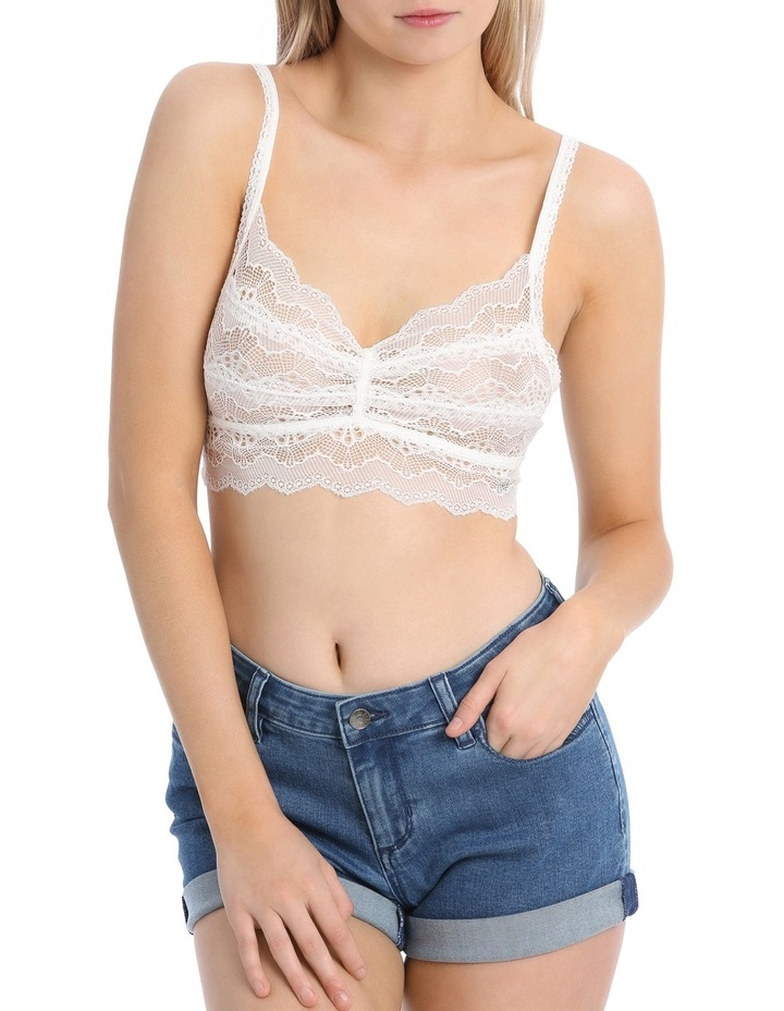 Lace Ruched Cropped Top image 1