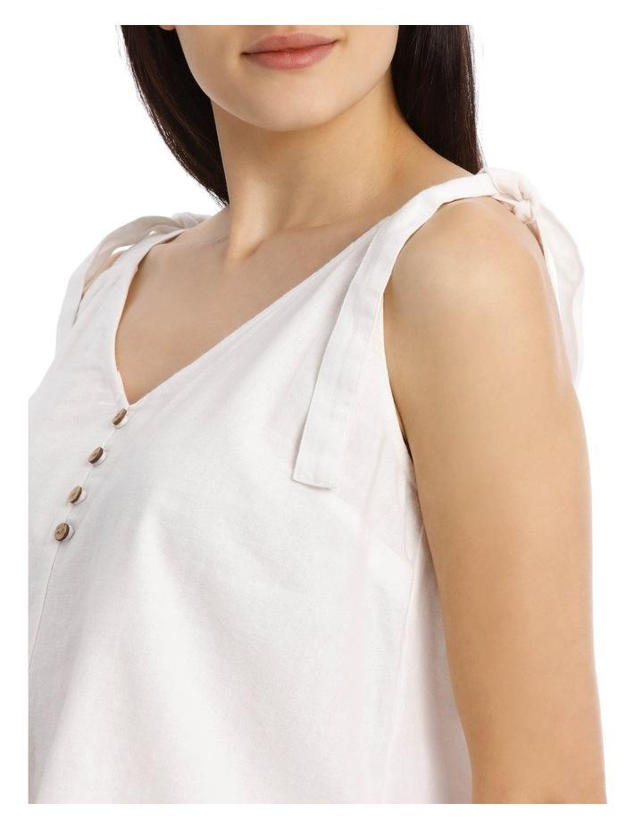 Button Through Linen Blend Tie Cami image 4