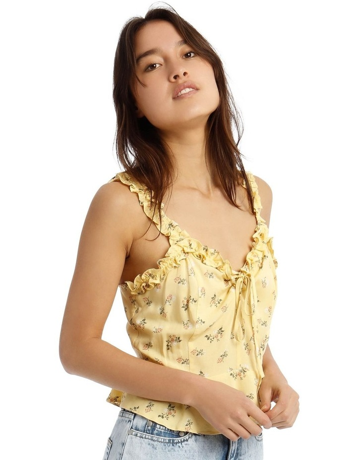 Tie-Front Top with Frill Detail image 2