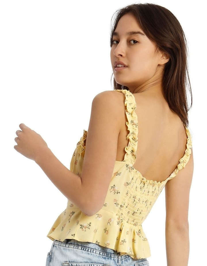 Tie-Front Top with Frill Detail image 3