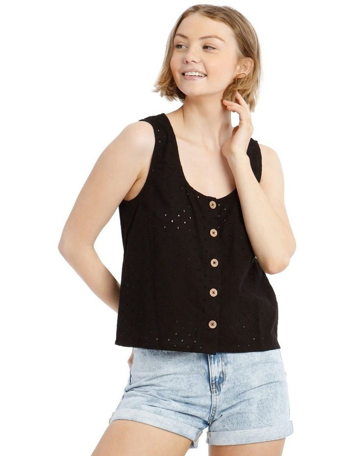 Buttoned Broderie Shell Camisole image 1