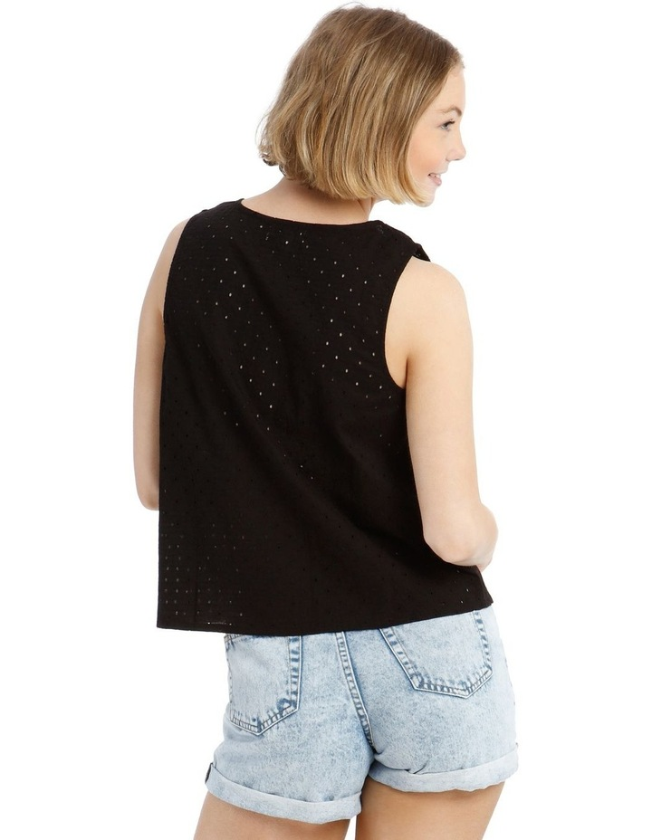 Buttoned Broderie Shell Camisole image 3