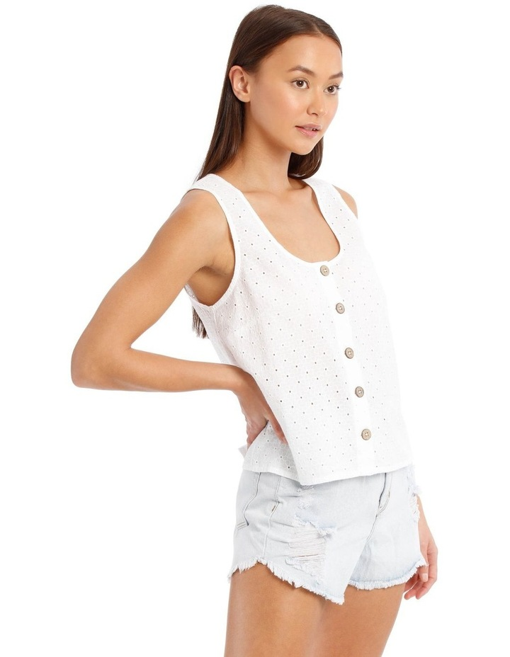 Buttoned Broderie Shell Camisole image 2