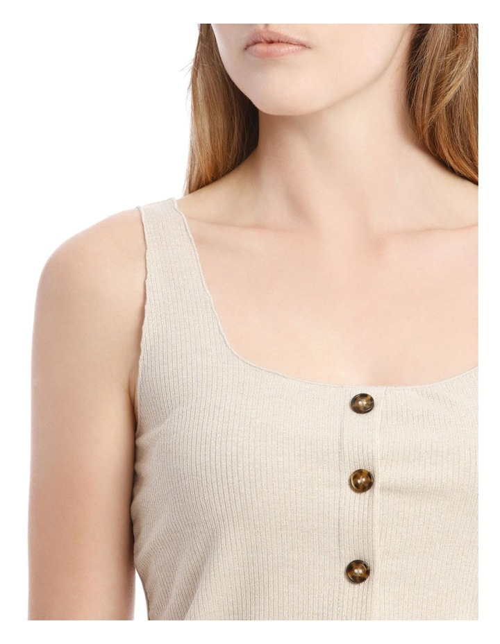 Gold Shimmer Button-Down Ribbed Camisole image 4