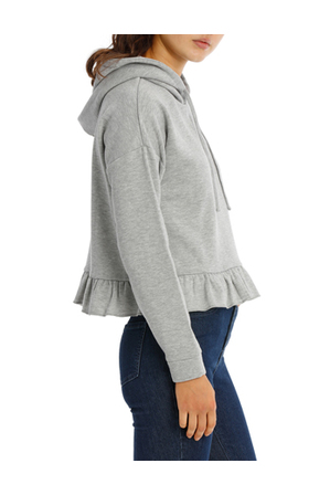 Miss Shop - Ruffle Peplum Hoodie Sweat MSCW18093.