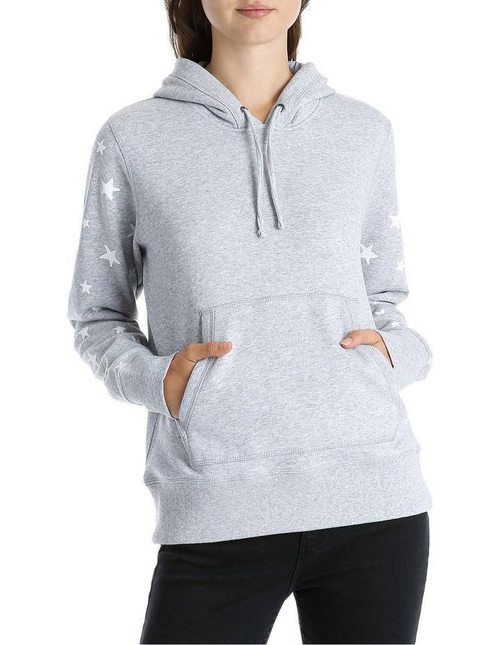 Star Sleeve Boyfriend Hoodie Sweat image 1