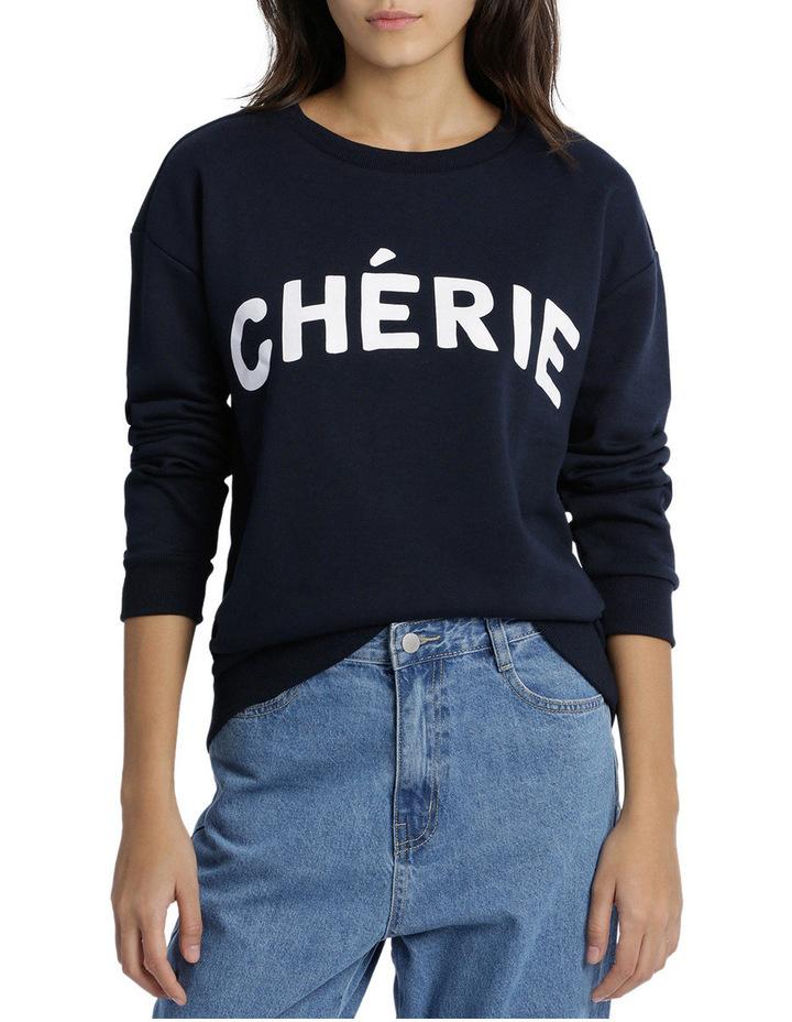 Cherie Graphic Slogan Boyfriend Sweat image 1