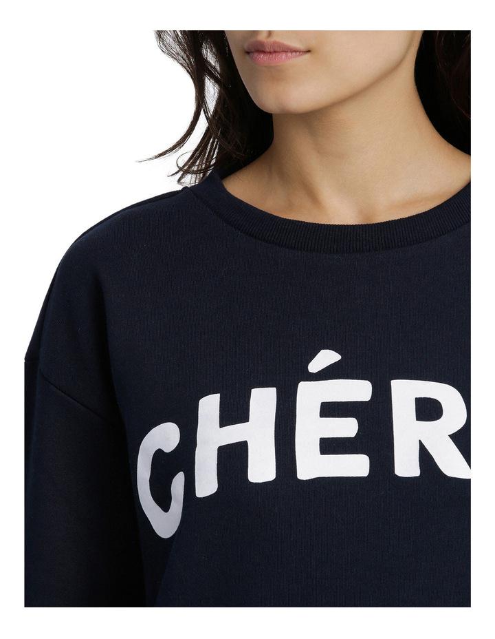 Cherie Graphic Slogan Boyfriend Sweat image 4