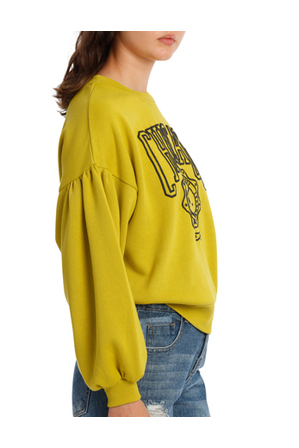 Miss Shop - Graphic Chicago Blouson Sleeve MSCW18216