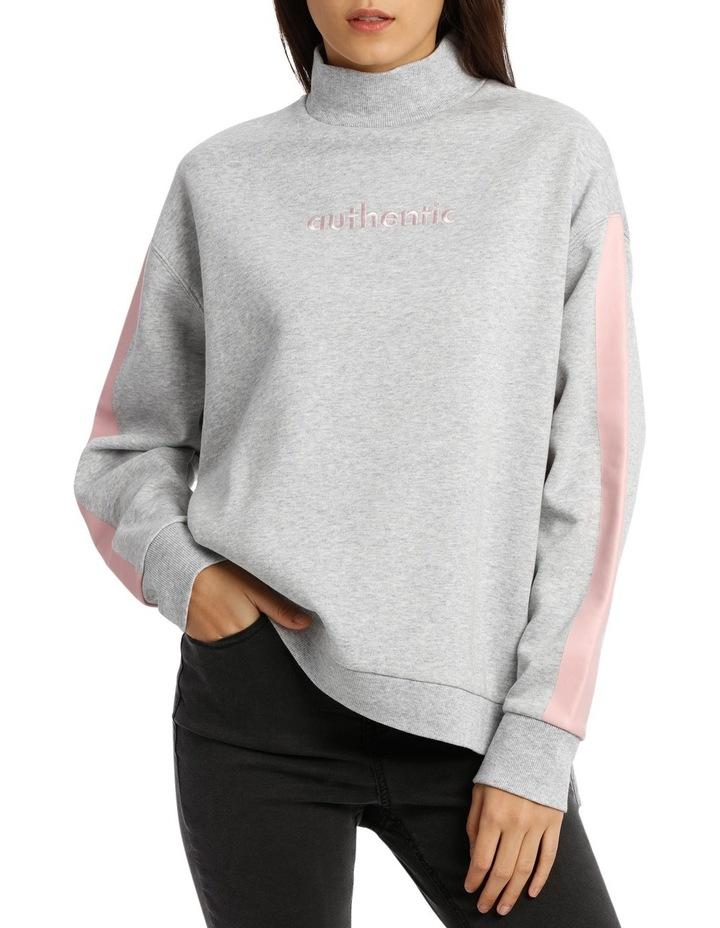 Graphic Mock Neck Sweater image 1