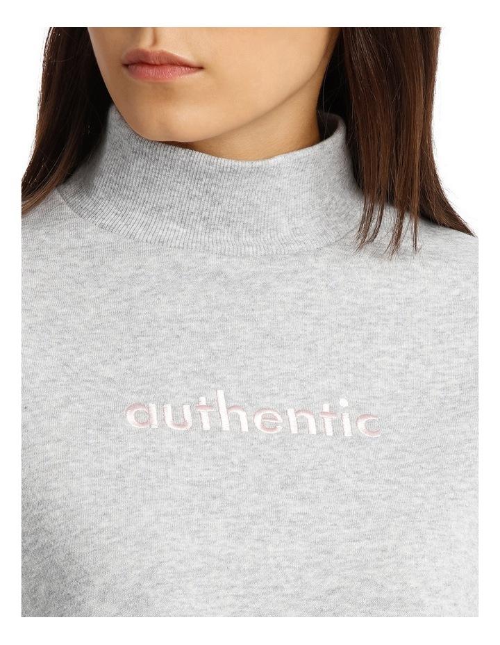 Graphic Mock Neck Sweater image 4