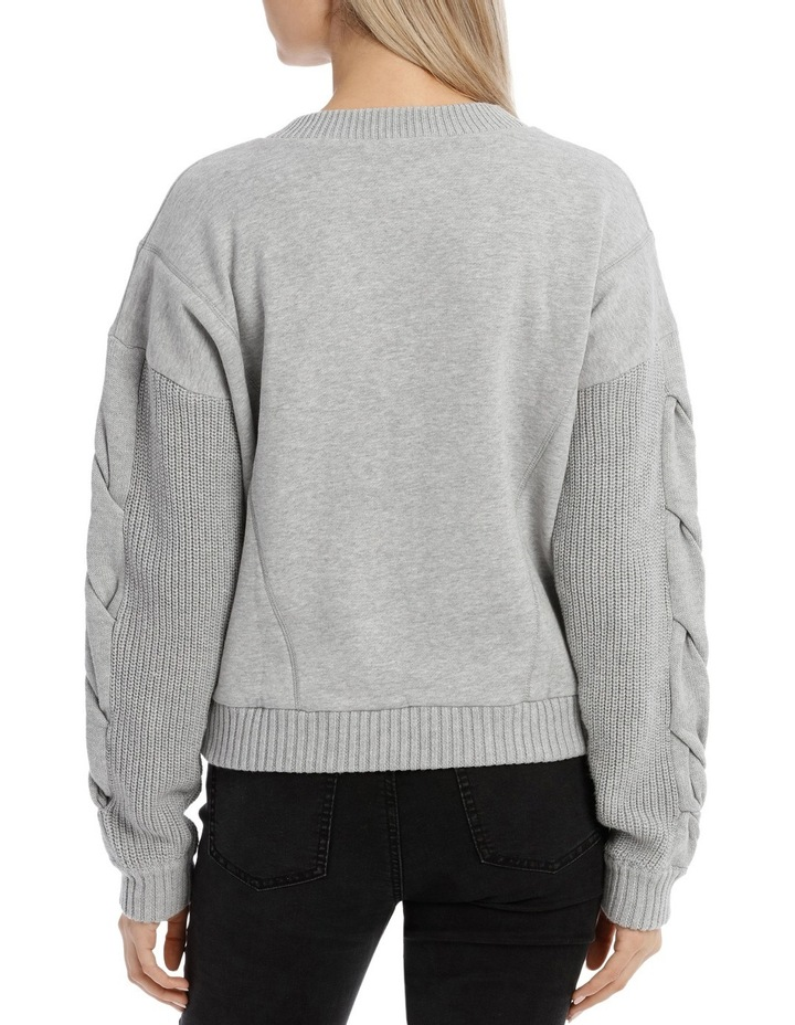 Cable Sleeve Sweat MSCW18165 image 3