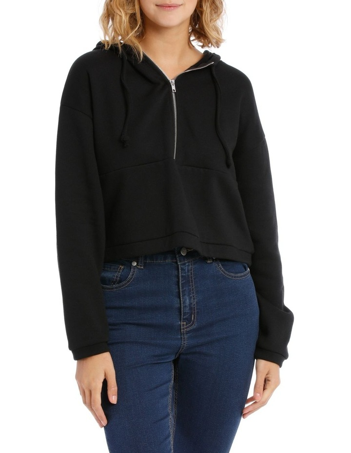 Cropped Half Zip Sweat Top image 1