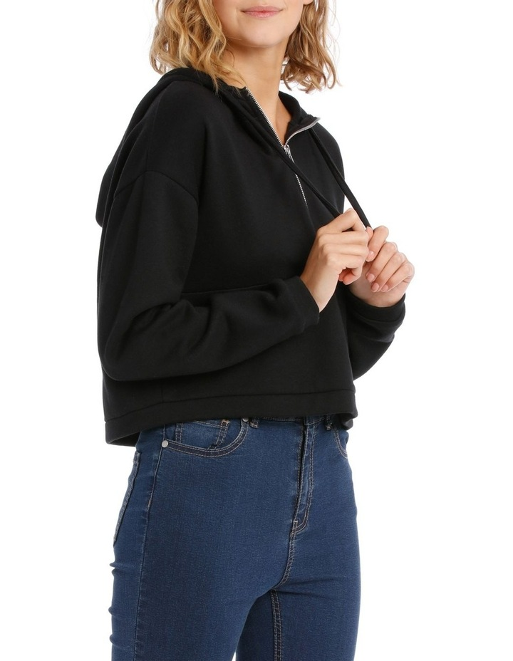 Cropped Half Zip Sweat Top image 2