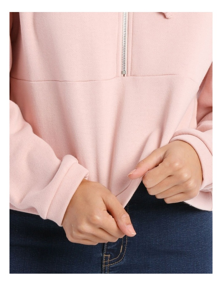 Cropped Half Zip Sweat Top image 4