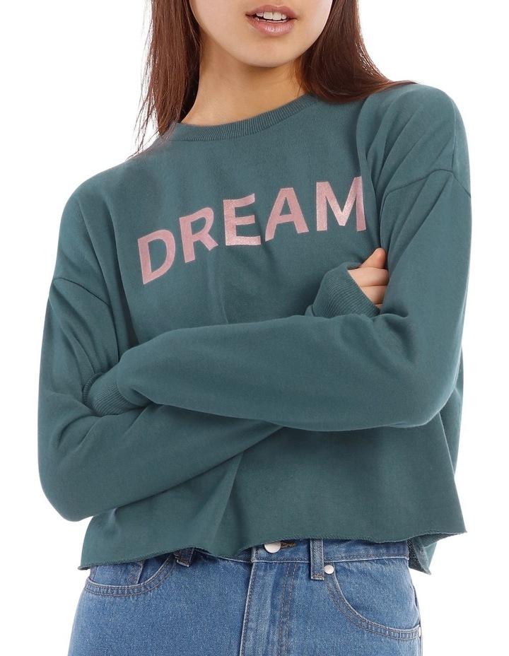Dream Foil Print Logo Sweat Top image 1