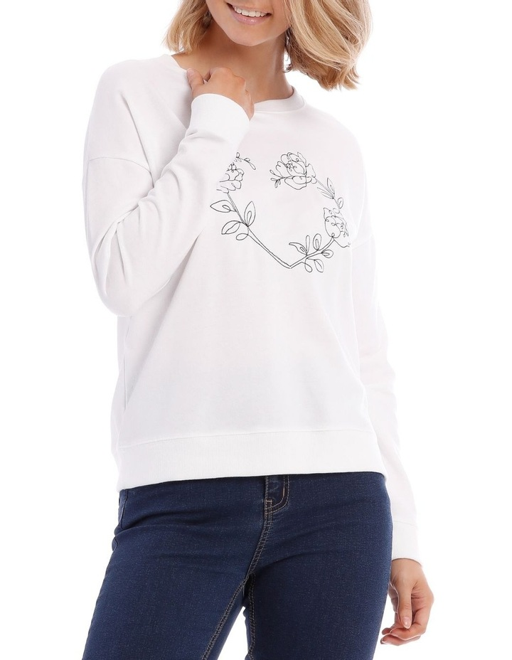 Botanical Print Relaxed Sweat Top image 1